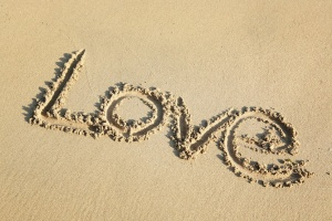 love write on sand