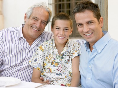 Son father and grandfather